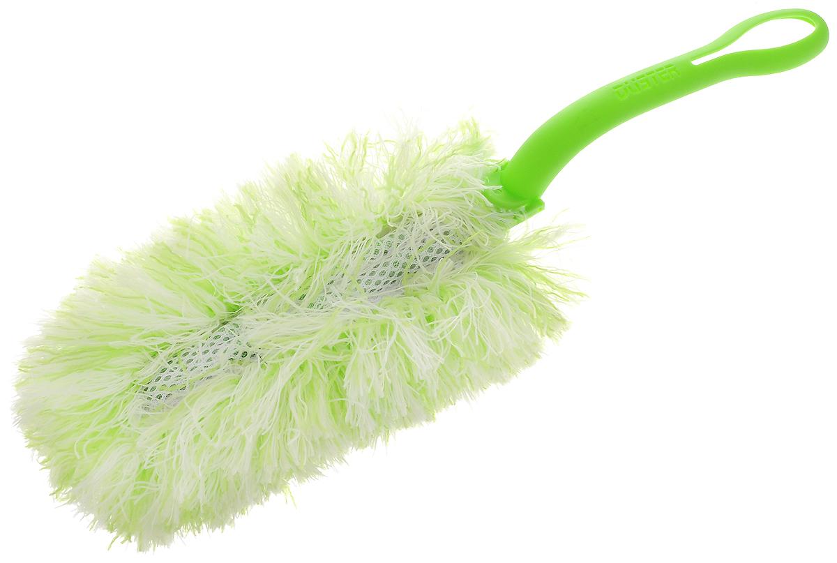 Щетка для удаления пыли Paterra, со съемной насадкой, цвет: салатовый, белый, длина 34 смVCA-00Щетка Paterra выполнена из высококачественной микрофибры и оснащена складывающейся пластиковой ручкой. Отлично удаляет пыль. Ворсинки, как магниты, притягивают и надежно удерживают частички грязи. Щетка Paterra станет верной помощницей в домашних делах.Длина щетки: 34 см.Размер рабочей поверхности: 20 х 10 х 5 см.