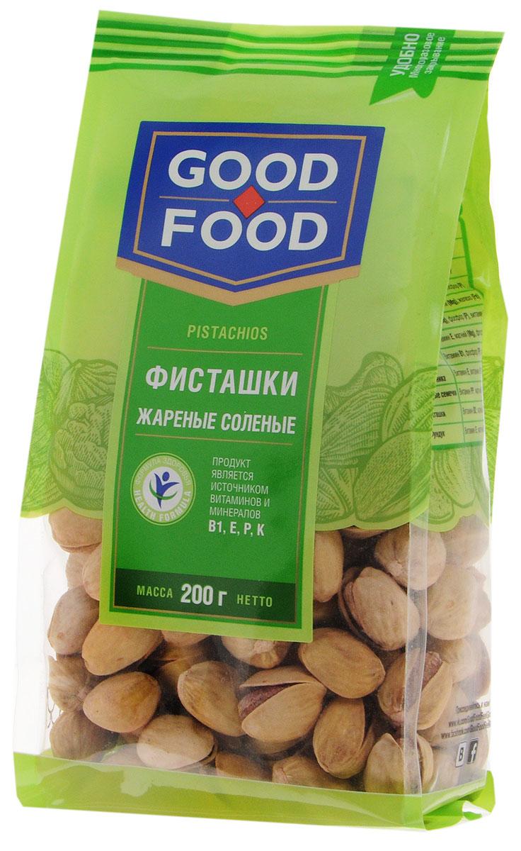 Good Food фисташкижареныесоленые,200г0120710Дерево жизни, орехи счастья - так по-другому называют фисташки, обладающие тонким оригинальным вкусом и массой полезных свойств. Польза фисташек для человеческого организма неоценима, достаточно взглянуть на перечень полезных веществ, которые содержат эти орехи, чтобы в этом убедиться: витамины группы А (лютеин, зеаксантин), В (В1, В9, В6), Е, медь, марганец, фосфор, калий, магний, железо и многое другое. Фисташки Good Food обладают сбалансированным вкусом благодаря равномерной прожарке и оптимальному количеству соли.