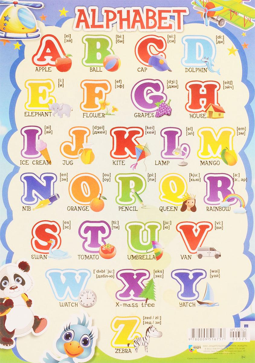 Издательская группа Квадра Обучающий плакат Английский алфавит