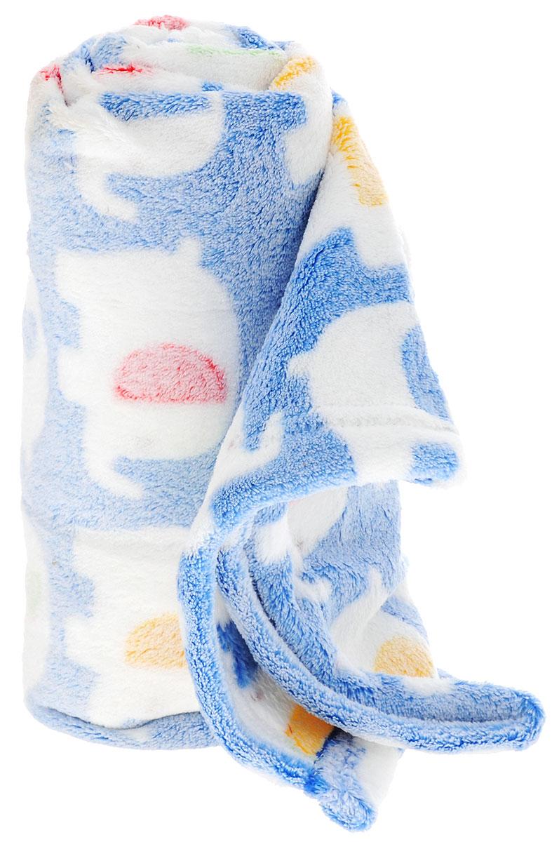 ТМ Коллекция Плед детский Слоники цвет синий 70 х 100 см531-105Детский плед ТМ Коллекция Слоники согреет малыша в прохладную погоду в кроватке или коляске!Плед порадует вас легкостью, нежностью и оригинальным дизайном! Плед выполнен из 100% полиэстера.Полиэстер считается одним из самых популярных видов материала. Это ткань синтетического происхождения из полиэфирных волокон. Внешне схожа с шерстью, а по свойствам близка к хлопку. Изделия из полиэстера не мнутся и легко стираются. После стирки очень быстро высыхают.Изделие позволяет коже дышать и не вызывает раздражения. Мягкий плед - замечательный аксессуар, который подарит вашему малышу тепло и уют.