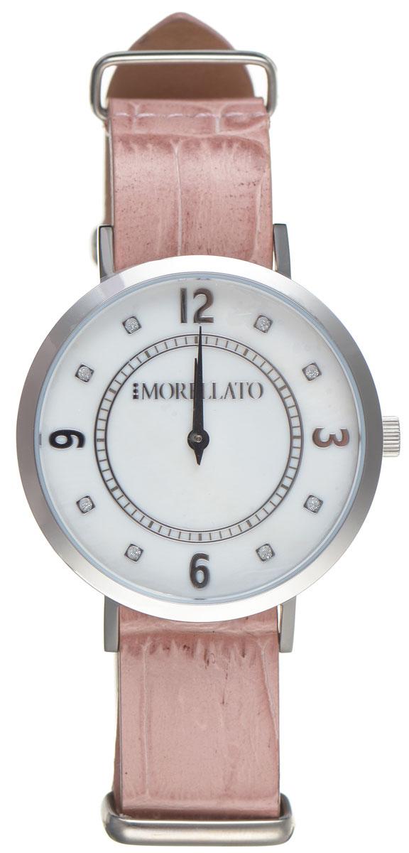Часы наручные женские Morellato, цвет: розовый. R0151133508BM8434-58AEСтильные женские часы Morellato изготовлены из высокотехнологичной гипоаллергенной нержавеющей стали. Ремешок выполнен из натуральной лаковой кожи с тиснением под рептилию и оснащен классической застежкой-пряжкой. Точный кварцевый механизм имеет степень влагозащиты равную 3 Bar и дополнен часовой и минутной стрелками. Циферблат украшен рисками, инкрустированными искусственными кристаллами. Для того чтобы защитить циферблат от повреждений в часах используется высокопрочное минеральное стекло. Изделие упаковано в фирменную коробку и дополнительно в подарочную коробку с названием бренда. Часы Morellato отличаются современным уникальным дизайном, идеальными пропорциями в сочетании с прекрасными материалами, техническими характеристиками и доступной ценой.