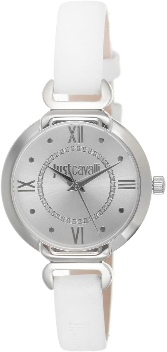 Часы наручные женские Just Cavalli, цвет: белый. R7251526502BM8434-58AEНаручные женские часы Just Cavalli произведены из материалов самого высокого качества на базе новейших технологий.Они оснащены точным кварцевым механизмом. Корпус часов изготовлен из нержавеющей стали, циферблат инкрустирован стразами и защищен минеральным стеклом. Ремешок выполнен из натуральной кожи и оснащен классической застежкой-пряжкой.Циферблат круглой формы оснащен римскими цифрами и отметками, а так же тремя стрелками - часовой, минутной и секундной. Часы являются водостойкими - 3 АТМ. Изделие укомплектовано в стильную фирменную коробку с названием бренда. Наручные часы Just Cavalli созданы для современных девушек, которые не желают потерять свою индивидуальность в городской суете.