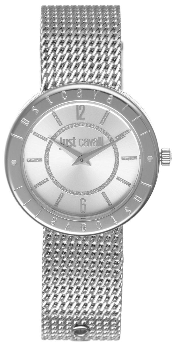 Часы наручные женские Just Cavalli, цвет: серебристый. R7253532503BM8434-58AEНаручные женские часы Just Cavalli произведены из материалов самого высокого качества на базе новейших технологий.Они оснащены точным кварцевым механизмом. Корпус часов изготовлен из нержавеющей стали, циферблат инкрустирован стразами и защищен минеральным стеклом. Ремешок выполнен из нержавеющей стали оснащен удобной застежкой-пряжкой, которая позволит моментально снимать и одевать часы без лишних усилий Циферблат круглой формы оснащен арабскими цифрами и отметками, а так же двумя стрелками - часовой и минутной. Часы являются водостойкими - 3АТМ.Изделие укомплектовано в стильную фирменную коробку с названием бренда.Часы Just Cavalli подчеркнут изящность женской руки и отменное чувство стиля у их обладательницы.