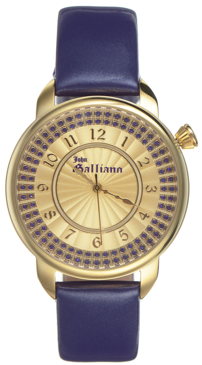 Часы наручные женские Galliano, цвет: фиолетовый. R2553126504BM8434-58AEНаручные женские часы Galliano произведены из материалов самого высокого качества на базе новейших технологий.Они оснащены точным кварцевым механизмом. Корпус часов изготовлен из нержавеющей стали с PVD-покрытием, циферблат инкрустирован стразами и защищен минеральным стеклом. Ремешок выполнен из натуральной лаковой кожи иоснащен классической застежкой-пряжкой.Циферблат круглой формы оснащен арабскими цифрами, а так же тремя стрелками - часовой, минутной и секундной. Часы являются водостойкими - 3АТМ.Изделие укомплектовано в стильную фирменную коробку с названием бренда.Наручные часы Galliano созданы для современных девушек, которые не желают потерять свою индивидуальность в городской суете.