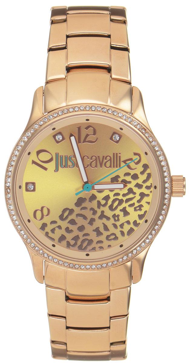 Часы наручные женские Just Cavalli, цвет: розовое золото. R7253127510BM8434-58AEНаручные женские часы Just Cavalli произведены из материалов самого высокого качества на базе новейших технологий.Они оснащены точным кварцевым механизмом. Корпус часов изготовлен из нержавеющей стали с PVD-покрытием, циферблат инкрустирован стразами Swarovski и защищен минеральным стеклом. Ремешок выполнен из нержавеющей стали с PVD-покрытием и оснащен удобной раскладывающейся застежкой, которая позволит моментально снимать и одевать часы без лишних усилий Циферблат круглой формы оснащен тремя стрелками - часовой, минутной и секундной, оформлен названием бренда и звериным мотивом. Часы являются водостойкими - 3АТМ.Изделие укомплектовано в стильную фирменную коробку с названием бренда.Наручные часы Just Cavalli созданы для современных девушек, которые не желают потерять свою индивидуальность в городской суете.