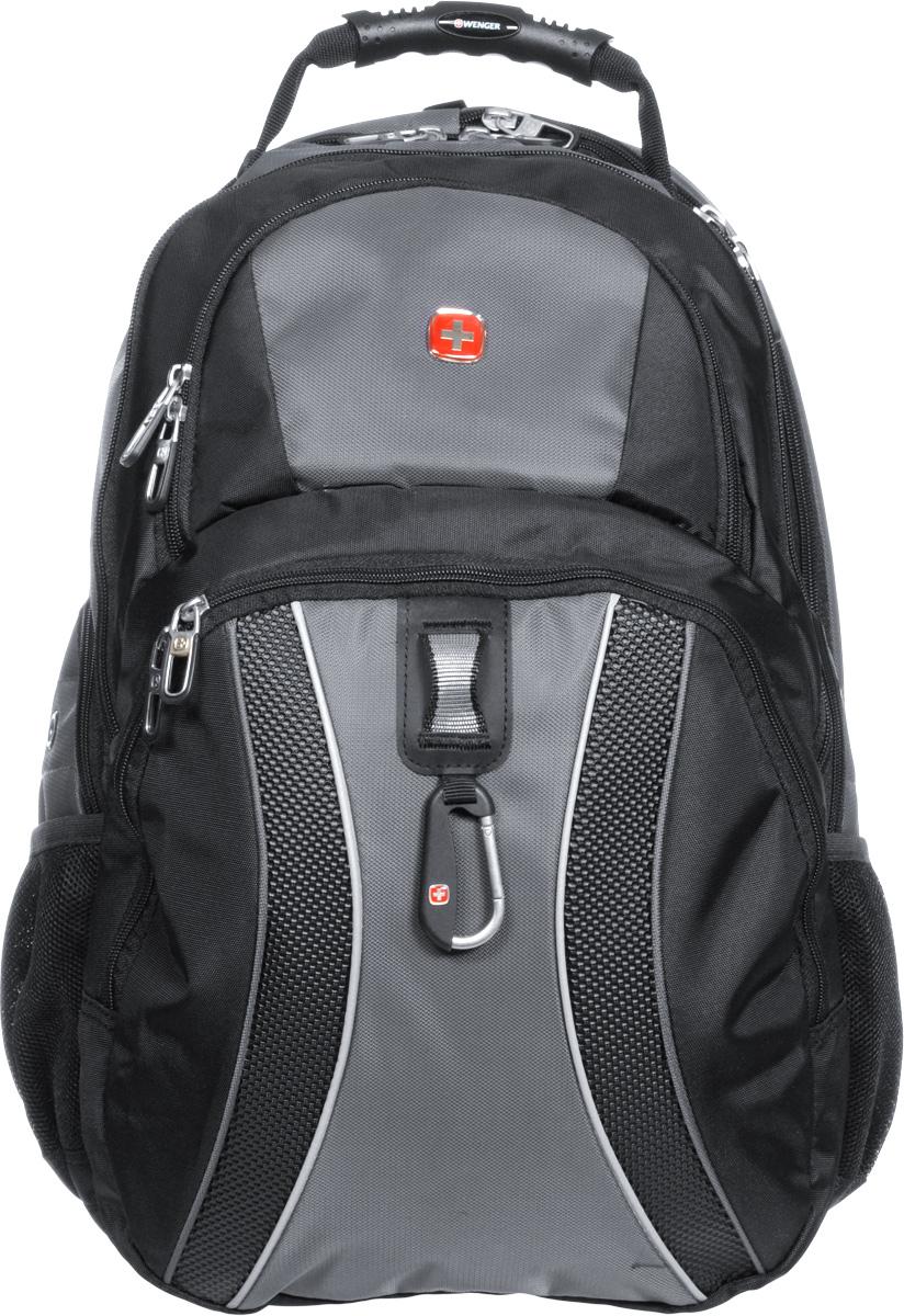 Рюкзак Wenger, цвет: черный, серый, 34 х 23 х 47 см, 36 л12704215Рюкзак Wenger - это самодостаточный, многофункциональный и надежный спутник своего владельца, как и знаменитый швейцарский нож! Благодаря многофункциональности рюкзака Wenger, вы можете легко организовать свои вещи, отправив ключи, мобильный телефон и еще тысячу мелочей в специальный карман-органайзер, положив ноутбук в надежный мягкий карман под спинкой. После этого останется еще много места для других необходимых вещей. Рюкзаки и сумки Wenger - это прежде всего современные материалы и фурнитура от надежных поставщиков и швейцарский контроль качества, благодаря которому репутация компании была и остается столь высокой. Продуманная конструкция и современные технологии проявляются главным образом в потрясающей надежности рюкзаков и сумок Wenger. А ведь надежность - самое важное качество и в амуниции, и в людях! Особенности рюкзака: Петля для очков: эластичная петля на плечевом ремне позволяет удобно хранить солнцезащитные очки и обеспечивает легкий доступ к ним.Плечевые ремни: эргономичные ремни анатомической формы разработаны с дополнительным уплотнением для удобства и контроля.Карман для мелких предметов: внутренний карман-органайзер включает съемную ключницу и раздельные кармашки для ручек, карандашей, мобильного телефона и CD дисков.Карман для бутылки воды: карман из эластичной сетки удобен для хранения бутылок любого размера.Раскладываемое отделение для ноутбука: уникальный дизайн с сетчатым экраном, подходит для ноутбуков с размером экрана до 17. Отверстие для провода наушников: внутренний карман с отверстием для вывода наушников обеспечивает сохранность CD и МР3-плеера.