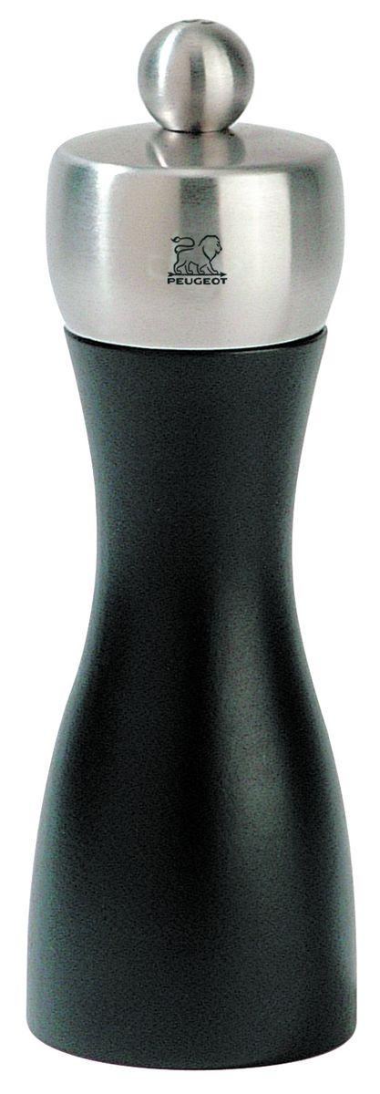 Мельница для перца Peugeot Fidji, цвет: черный, серый, высота 15 смВетерок 2ГФМельница для перца Peugeot Fidji - отличное приспособление для приготовления блюд со свежемолотым перцем. Выполнена из дерева и нержавеющей стали. Изделие оснащено двойным рядом винтообразных зубцов для захвата горошин и подачи их к основанию, а затем удержания их до безупречного помола. Эта уникальная система позволяет регулировать уровень помола. Зубцы имеют антикоррозионное покрытие.