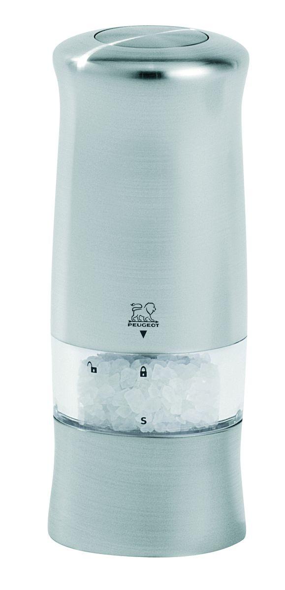 Мельница для соли Peugeot Zeli, электрическая, высота: 14 смVT-1520(SR)Пусть будет свет! Zeli - воплощение современности: сочетание матового хрома и эргономики. Небольшой размер (высота 14 см), кнопка на верхней части для управления одним легким движением руки. Более того конструкция Zeli имеет элемент, присущий всем электрическим мельница Peugeot: маленькую лампу, которая загорается во время использования ... «вау» эффект за столом обеспечен! Zeli – это мельницы для соли и перца. Степень помола можно регулировать с помощью небольшого колесика внизу мельницы.