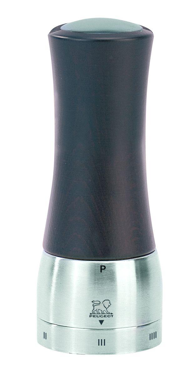 Мельница для перца Peugeot Madras, цвет: шоколадный, серый, высота 16 см21395599Мельница для перца Peugeot Madras - отличное приспособление для приготовления блюд со свежемолотым перцем. Выполнена из дерева и нержавеющей стали. Madras - это шикарное сочетание тонированного дерева и нержавеющей стали, а также инновация последнего поколения - удаление центрального вала. Эта система, которая внешне незаметна в этой модели, имеет важное значение при использовании, позволяя гораздо легче заполнять резервуар. Доступ к нему осуществляется через намагниченную пробку в верхней части мельницы. Изделие оснащено двойным рядом винтообразных зубцов для захвата горошин и подачи их к основанию, а затем удержания их до безупречного помола. Эта уникальная система позволяет регулировать уровень помола. Зубцы имеют антикоррозионное покрытие.