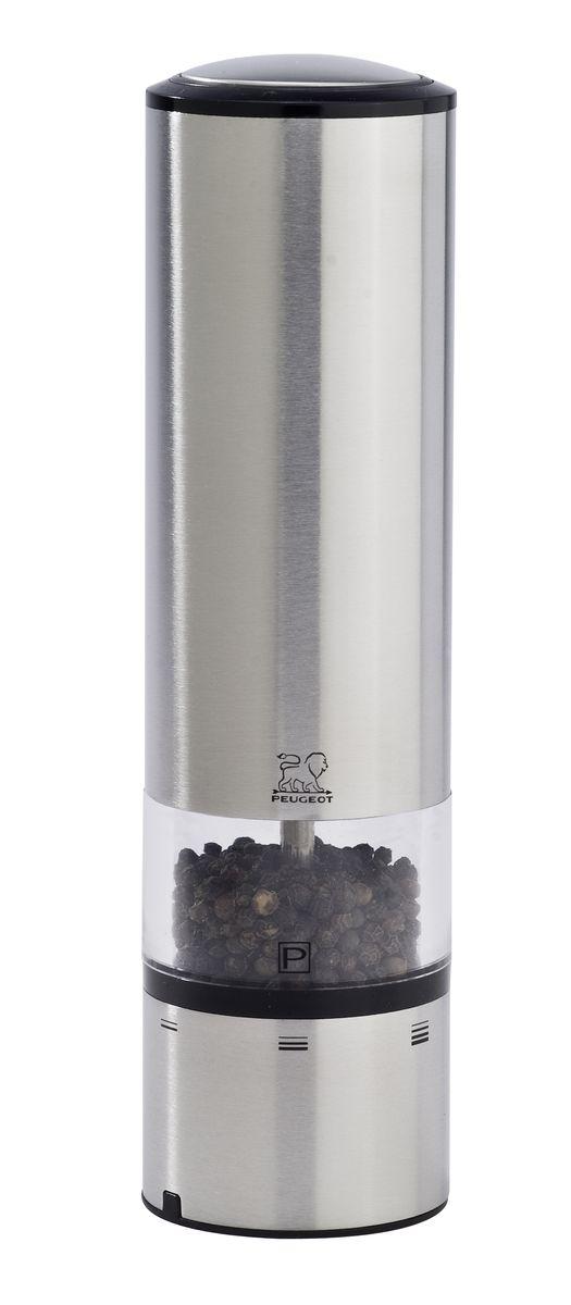 Мельница для перца Peugeot Elis Sense, электрическая, высота 20 см77.858@20810, 6284Мельница для перца с сенсорным управлением Peugeot Elis Sense поможет вам в приготовлении пищи. Благодаря внедрению сенсорной технологии, Elise Sense может похвастаться непревзойденной эргономикой. Больше нет необходимости нажимать на кнопку, достаточно легкого прикосновения, чтобы получить нужное вам количество соли или перца. Синяя подсветка указывает, что мельница находится в рабочем состоянии, а LED освещение в основании мельницы позволяет вам контролировать количество и степень помола специй. Запатентованная система регулировки uSelect предлагает пользователю лучшее качество помола.