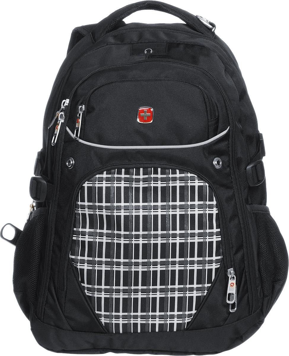 Рюкзак Wenger, цвет: черный, белый, 33 х 20 х 47 см, 32 л72523WDРюкзак Wenger - это самодостаточный, многофункциональный и надежный спутник своего владельца, как и знаменитый швейцарский нож! Благодаря многофункциональности рюкзака, вы можете легко организовать свои вещи, отправив ключи, мобильный телефон и еще тысячу мелочей в специальный карман-органайзер, положив ноутбук в надежный мягкий карман под спинкой. После этого останется еще много места для других необходимых вещей. Рюкзаки и сумки Wenger - это прежде всего современные материалы и фурнитура от надежных поставщиков и швейцарский контроль качества, благодаря которому репутация компании была и остается столь высокой. Продуманная конструкция и современные технологии проявляются главным образом в потрясающей надежности рюкзаков и сумок Wenger. А ведь надежность - самое важное качество и в амуниции, и в людях! Особенности:Отделение с мягкими стенками для ноутбука с диагональю экрана 15 дюймов.Эргономичные плечевые ремни анатомической формы с пропускающей воздух набивной подкладкой для комфортного ношения рюкзака.Система циркуляции воздуха для обеспечения максимального комфорта и поддержки спины.Эластичная петля на плечевом ремне позволяет хранить и легко извлекать солнцезащитные очки.Внутренний карман-органайзер включает в себя съемную ключницу и многочисленные раздельные кармашки для пишущих принадлежностей, мобильного телефона и компакт-дисков.Внешние карманы из эластичной сетки подходят для хранения бутылок любого размера.Внутренний карман для МР3-плеера с внешним выходом для наушников.По всем вопросам гарантийного и постгарантийного обслуживания рюкзаков, чемоданов, спортивных и кожаных сумок, а также портмоне марок Wenger и SwissGear вы можете обратиться в сервис-центр, расположенный по адресу: г. Москва, Саввинская набережная, д.3. Тел: (495) 788-39-96, (499) 248-56-56, ежедневно с 9:00 до 21:00. Подробные условия гарантийного обслуживания приведены в гарантийном талоне, поставляемым в комплекте с каждым