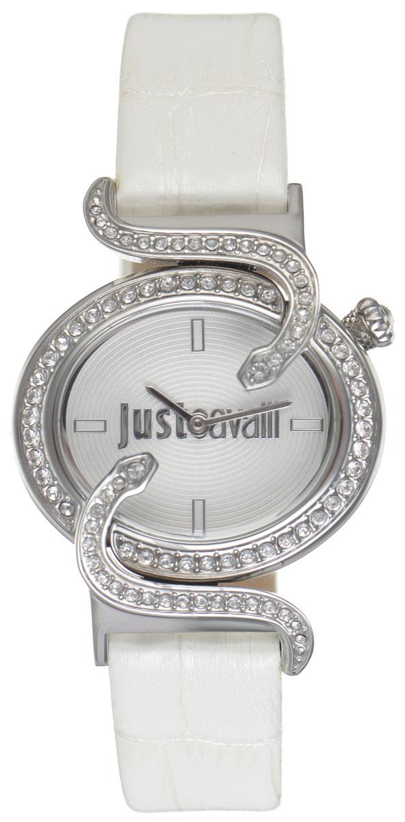 Часы наручные женские Just Cavalli, цвет: белый. R7251591502BM8434-58AEНаручные женские часы Just Cavalli произведены из материалов самого высокого качества на базе новейших технологий.Они оснащены точным кварцевым механизмом. Корпус часов изготовлен из нержавеющей стали, циферблат инкрустирован стразами, оформлен оригинальными змейками, извивающимися вокруг циферблата, и защищен минеральным стеклом. Ремешок выполнен из натуральной лаковой кожи с тиснением под крокодила и оснащен классической застежкой-пряжкой.Циферблат круглой формы оснащен отметками, а так же двумя стрелками - часовой и минутной. Часы являются водостойкими - 3АТМ.Изделие укомплектовано в стильную фирменную коробку с названием бренда.Часы Just Cavalli подчеркнут изящность женской руки и отменное чувство стиля у их обладательницы.