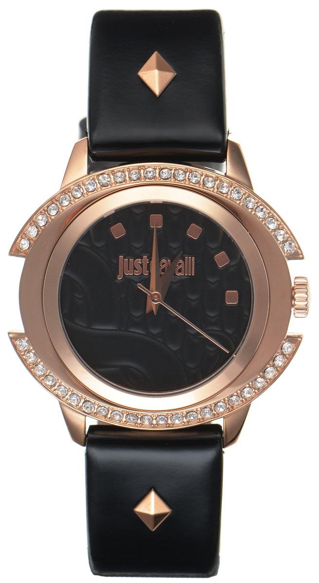 Часы наручные женские Just Cavalli, цвет: черный. R7251216501BM8434-58AEНаручные женские часы Just Cavalli произведены из материалов самого высокого качества на базе новейших технологий.Они оснащены точным кварцевым механизмом. Корпус часов изготовлен из нержавеющей стали с PVD-покрытием и инкрустирован стразами Swarovski, циферблат защищен минеральным стеклом, оформлен символикой бренда и затаил в себе змеиный рисунок, характерный для изделий Just Cavalli. Ремешок выполнен из натуральной лаковой кожи и оснащен классической застежкой-пряжкой. Циферблат круглой формы оснащен тремя стрелками - часовой, минутной и секундной и оформлен названием бренда. Часы являются водостойкими - 3АТМ.Изделие укомплектовано в стильную фирменную коробку с названием бренда.Наручные часы Just Cavalli созданы для современных девушек, которые не желают потерять свою индивидуальность в городской суете. Изящный стиль, дополненный чарующим сиянием кристаллов, придется по вкусу даже самой взыскательной моднице.