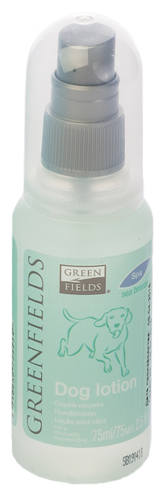 Спрей-лосьон для собак Greenfields Морской бриз, 75 мл101246Спрей-лосьон для собак Морской бриз Greenfilds для устранения запаха на животном идеально подходит для выставочных и домашних собак! Действует на молекулярном уровне. Создан на основании натуральных компонентов, подаренных самой природой. Гипоаллергенен, не имеет резких запахов. При использовании на шерсти и коже животного устраняет неприятный запах, придаёт и сохраняет приятный ароматв течение длительного времени. Cодержит натуральные дезодорирующие компоненты . Полностью устраняет неприятный запах от животных на молекулярном уровне.