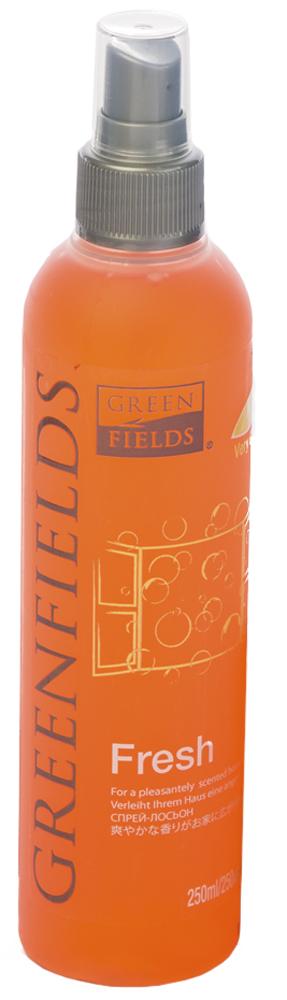Спрей-лосьон для устранения запаха Greenfields Fresh Вишня, 250 мл4605543004322Спрей-лосьон Fresh Вишня Greenfilds для устранения запаха животных, который действует на молекулярном уровне. Создан на основании натуральных компонентов, подаренных самой природой. Гипоаллергенен, не имеет резких запахов. Идеально подходит для устранения запаха в помещении, на тканях, в автомобиле. Придаёт и сохраняет приятный аромат в течение длительного времени, содержит натуральные дезодорирующие компоненты. Подходит для использования как в присутствии животных, так и без. Не оставляет пятнен на тканях и твёрдых поверхностях.Полностью устраняет неприятный запах от животных на молекулярном уровне.