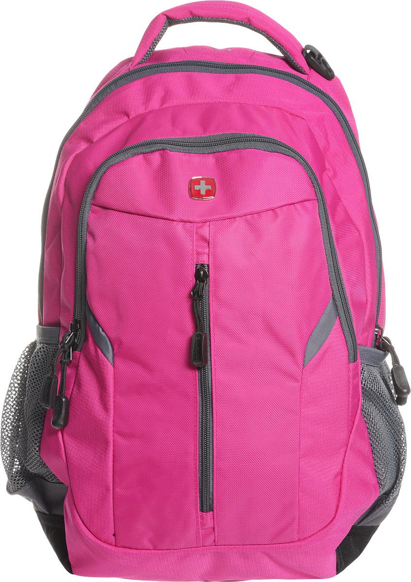 Рюкзак Wenger, цвет: розовый, серый, 32 х 15 х 45 см, 22 лRivaCase 7560 greyРюкзак Wenger - это самодостаточный, многофункциональный и надежный спутник своего владельца, как и знаменитый швейцарский нож! Благодаря многофункциональности рюкзака, вы можете легко организовать свои вещи, отправив ключи, мобильный телефон и еще тысячу мелочей. Рюкзаки и сумки Wenger - это прежде всего современные материалы и фурнитура от надежных поставщиков и швейцарский контроль качества, благодаря которому репутация компании была и остается столь высокой. Продуманная конструкция и современные технологии проявляются главным образом в потрясающей надежности рюкзаков и сумок Wenger. А ведь надежность - самое важное качество и в амуниции, и в людях! Особенности рюкзака:Плечевые ремни: эргономичные плечевые ремни анатомической формы с пропускающей воздух набивной подкладкой для комфортного ношения рюкзака.Система циркуляции воздуха AIRFLOW для обеспечения максимального комфорта и поддержки спины.Карман для мобильного телефона: карман из эластичной растягивающейся сетки на плечевом ремне подходит для безопасного хранения большинства мобильных устройств. Удобное расположение обеспечивает быстрый доступ к телефону.Внешние карманы из эластичной сетки подходят для хранения бутылок любого размера.Внутренний карман-органайзер включает в себя съемную ключницу и многочисленные раздельные кармашки для пишущих принадлежностей, мобильного телефона и компакт-дисков.Карман для документов в основном отделении обеспечивает их удобное хранение.Внутренний карман для МР3-плеера с внешним выходом для наушников.