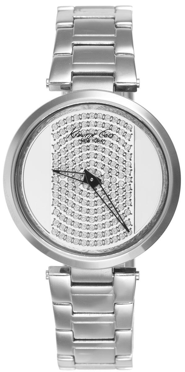 Часы наручные женские Kenneth Cole, цвет: серебристый. IKC0035BM8434-58AEСтильные женские часы Kenneth Cole выполнены из нержавеющей стали и минерального стекла. Циферблат изделия дополнен символикой бренда и инкрустирован стразами. Часы оснащены кварцевым механизмом с двумя стрелками, прозрачным корпусом, устойчивым к царапинам минеральным стеклом, степенью влагозащиты 3atm. Изделие дополнено ремешком из нержавеющей стали, оснащенным удобной раскладывающейся застежкой, позволяющей максимально комфортно и быстро снимать и одевать часы. Часы поставляются в фирменной упаковке. Часы Kenneth Cole - аксессуар, о котором можно только мечтать. Блистательный циферблат легко подчинит себе ваше время.
