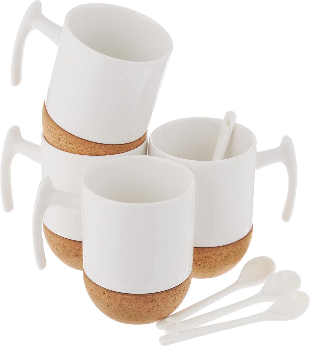 Набор чайный EcoWoo, 8 предметовFS-91909Набор чайный EcoWoo - это не только идеальный подарок, но и прекрасный повод побаловать себя! Набор состоит из 4 фарфоровых кружек с пробковым основанием и 4 ложек.Такой набор станет идеальным решением для ценителей экологичных деталей в интерьере и поклонников здорового образа жизни.Не использовать в посудомоечной машине.Объем кружки: 280 мл.Диаметр кружки (по верхнему краю): 7,5 см.Высота кружки: 10,5 см.Длина ложки: 11,5 см.