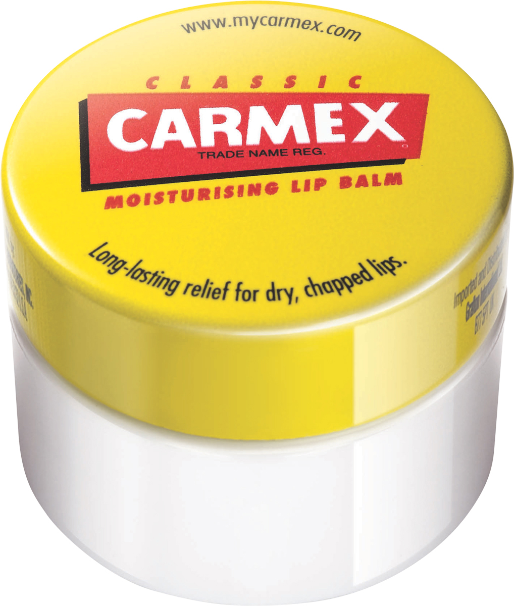 Carmex Бальзам для губ классический, баночка в блистере, 7,5 гFS-00897Уникальная формула CARMEX содержит специальные ингредиенты, которые вызывают ощущение покалывания - это означает, что CARMEX работает; увлажняя и защищая губы, делает их мягкими и здоровыми.