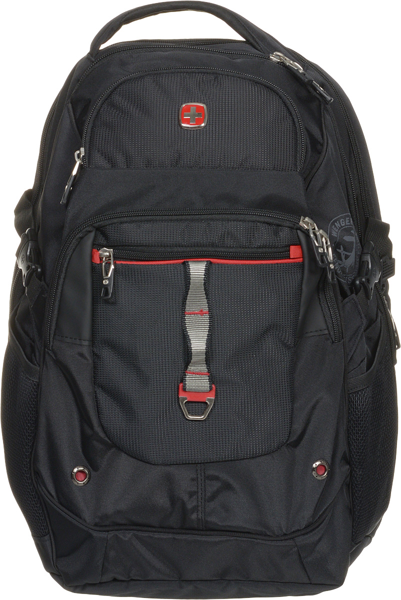 Рюкзак городской Wenger, цвет: черный, красный, 34 x 22 x 46 см, 34 лZ90 blackВысококачественный и стильный, надежный и удобный, а главное прочный рюкзак Wenger. Благодаря многофункциональности данный рюкзак позволяет удобно и легко укладывать свои вещи.Особенности рюкзака:2 внешних кармана на молнии. 2 внешних сетчатых кармана для бутылок с водой. Большое основное отделение. Внешний карман для очечника на молнии. Внешнее металлическое кольцо. Внутренний карабин для ключей. Возможность крепления на чемодане. Карман-органайзер для мелких предметов. Карман для планшетного компьютера с диагональю до 38 см. Металлические застежки молний с пластиковыми вставками. Мягкая ручка для переноски. Отделение на липучке для ноутбука 15 с системой ScanSmart. Петля для очков. Регулируемые плечевые ремни Внутренний сетчатый карман на молнии для хранения аксессуаров ноутбука. Стягивающие ремни. Эргономичная спинка с системой циркуляции воздуха Airflow.