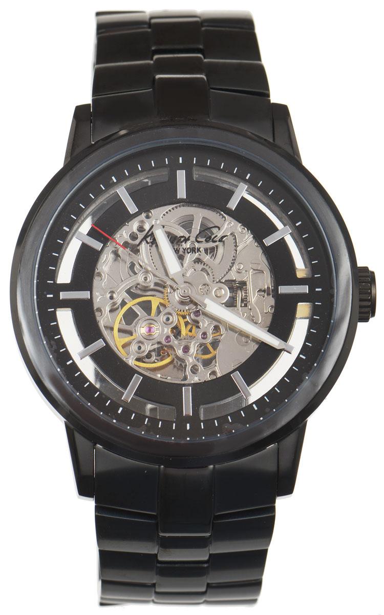 Часы наручные мужские Kenneth Cole, цвет: черный. IKC3981BM8434-58AEМужские механические скелетонизированные часы Kenneth Cole изготовлены из материалов самого высокого качества на базе новейших технологий.Циферблат оформлен символикой бренда. Корпус часов имеет степень влагозащиты, равную 3 Bar,оснащен механическим механизмом, а также устойчивым к царапинам минеральным стеклом. Задняя крышка дополнена стеклянной вставкой, благодаря чему видно элементы механизма. Ремешок, выполненный из нержавеющей стали, оснащен удобной раскладывающейся застежкой, позволяющей максимально комфортно и быстро снимать и одевать часы. Часы поставляются в фирменной упаковке. Часы Kenneth Cole подчеркнут отменное чувство стиля их обладателя.