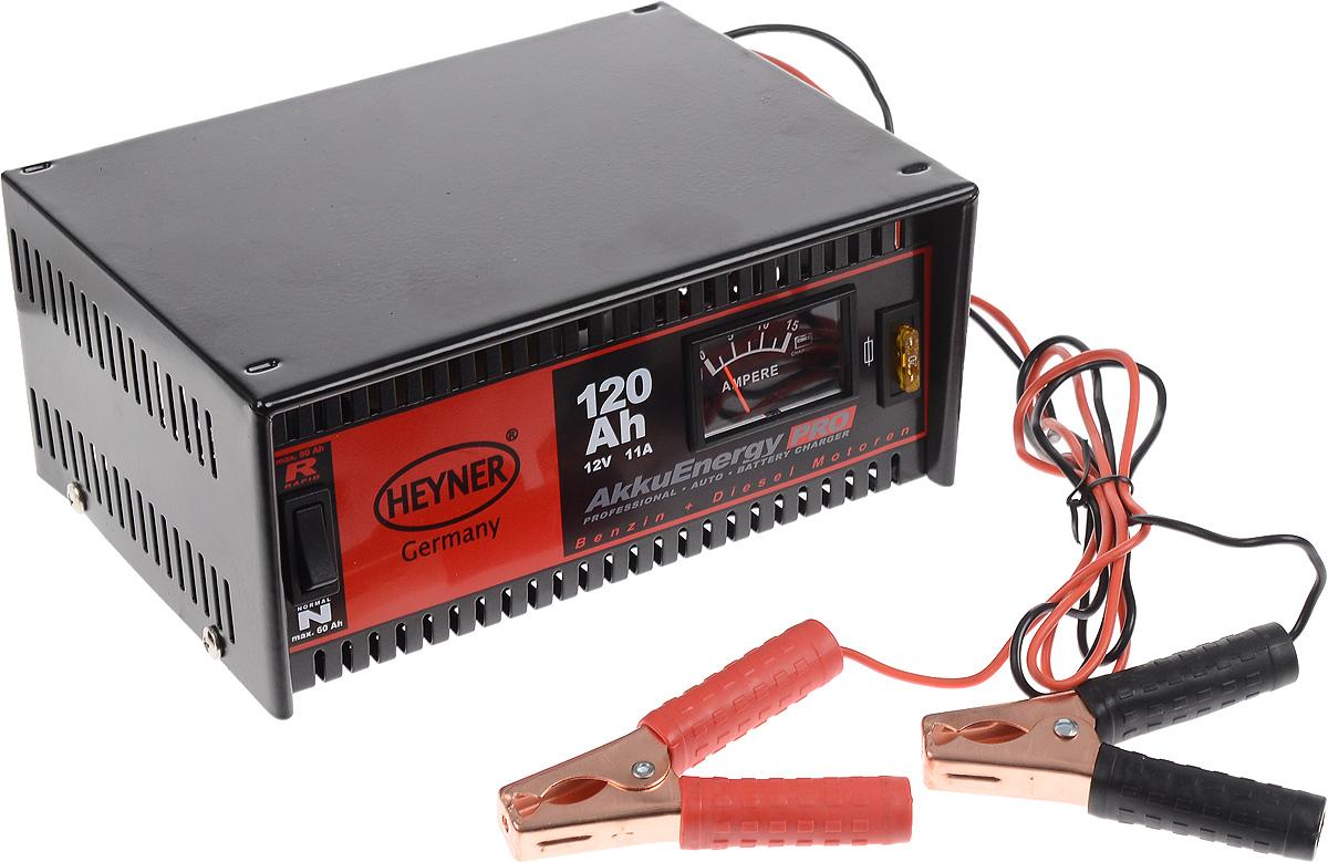 Зарядное устройство Heyner, 11 А, 120 Ач, 12В2012506200400Зарядное устройство Heyner предназначено для АКБ емкостью 120 Ah 12V. Изделие имеет гарантированную работоспособность при -40°С. Универсальные клеммы подходят для всех аккумуляторов. Устройство защищено от перегрузок, от обратного тока и от короткого замыкания. Переключатель стандарт/быстрый заряд. Предназначен для кислотных АКБ и АКБ стандарта AGM. Удобная сумка для хранения и перевозки в комплекте.Емкость: 120 Ач.Ток: 11 А.Напряжение: 12В.