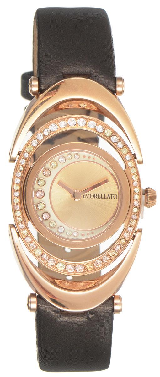 Часы наручные женские Morellato, цвет: коричневый. R0151106504BM8434-58AEЭлегантные женские часы Morellato изготовлены из высококачественной нержавеющей стали со стойким PVD покрытием. Ремешок выполнен из натуральной кожи и оснащен классической застежкой-пряжкой. Точный кварцевый механизм имеет степень влагозащиты равную 3 Bar и дополнен часовой и минутной стрелками. Корпус и циферблат инкрустированы искусственными кристаллами. Для того чтобы защитить циферблат от повреждений в часах используется высокопрочное минеральное стекло. Изделие упаковано в фирменную коробку и дополнительно в подарочную коробку с названием бренда. Часы Morellato подчеркнут изящность женской руки и отменное чувство стиля у их обладательницы.