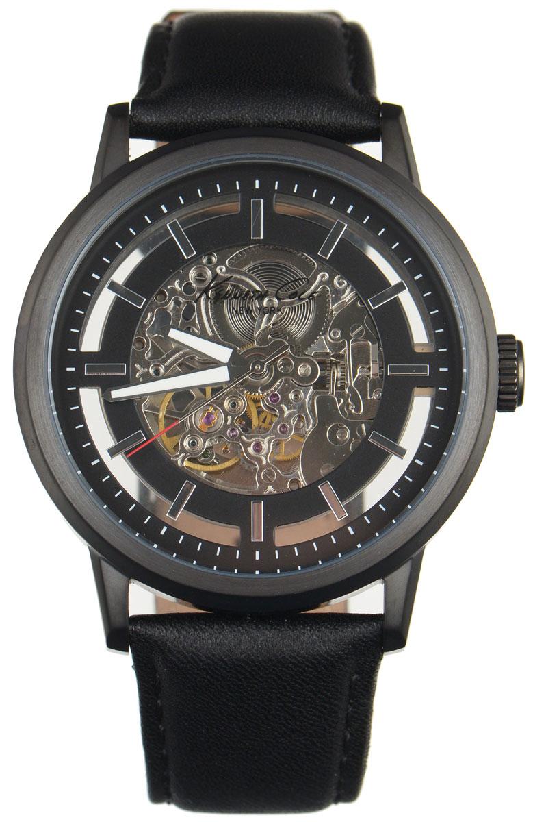 Часы наручные мужские Kenneth Cole, цвет: черный. IKC1632BM8434-58AEМужские механические скелетонизированные часы Kenneth Cole изготовлены из материалов самого высокого качества на базе новейших технологий.Циферблат оформлен символикой бренда. Корпус часов имеет степень влагозащиты, равную 3 Bar,оснащен механическим механизмом, а также устойчивым к царапинам минеральным стеклом. Задняя крышка дополнена стеклянной вставкой, благодаря чему видно элементы механизма. Ремешок, выполненный из натуральной кожи, застегивается на практичную пряжку. Часы поставляются в фирменной упаковке. Часы Kenneth Cole подчеркнут отменное чувство стиля их обладателя.