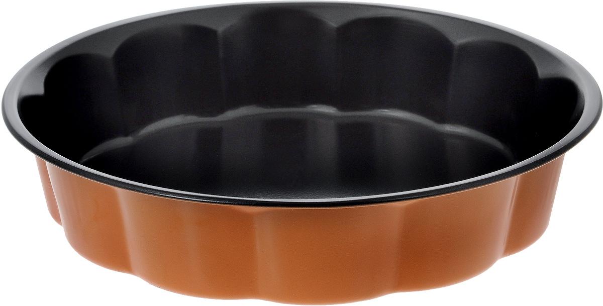 Форма для выпечки Hausmann, с антипригарным покрытием, цвет: оранжевый, черный, диаметр 27 см54 009312Форма для выпечки Hausmann выполнена из углеродистой стали с антипригарным покрытием. Выпечка не пристает к стенкам формы и сохраняет идеально ровную форму, когда вы достаете ее. Форма Hausmann будет идеальным выбором для всех любителей бисквитов, кексов и тортов. Эта форма создана, чтобы пробуждать кулинарную фантазию и удовлетворять творческие кулинарные порывы. Подходит для всех типов духовых шкафов. Максимальная температура нагрева 220°С. Высота стенки: 6 см.
