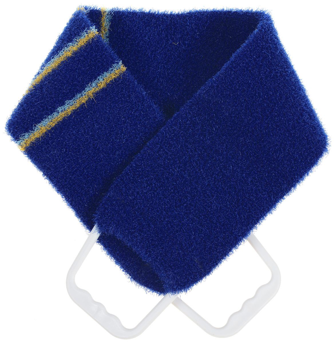 Мочалка-пояс массажная Riffi, жесткая, цвет: темно-синий, 80 х 11 см riffi мочалка пояс массажная жесткая цвет коралловый