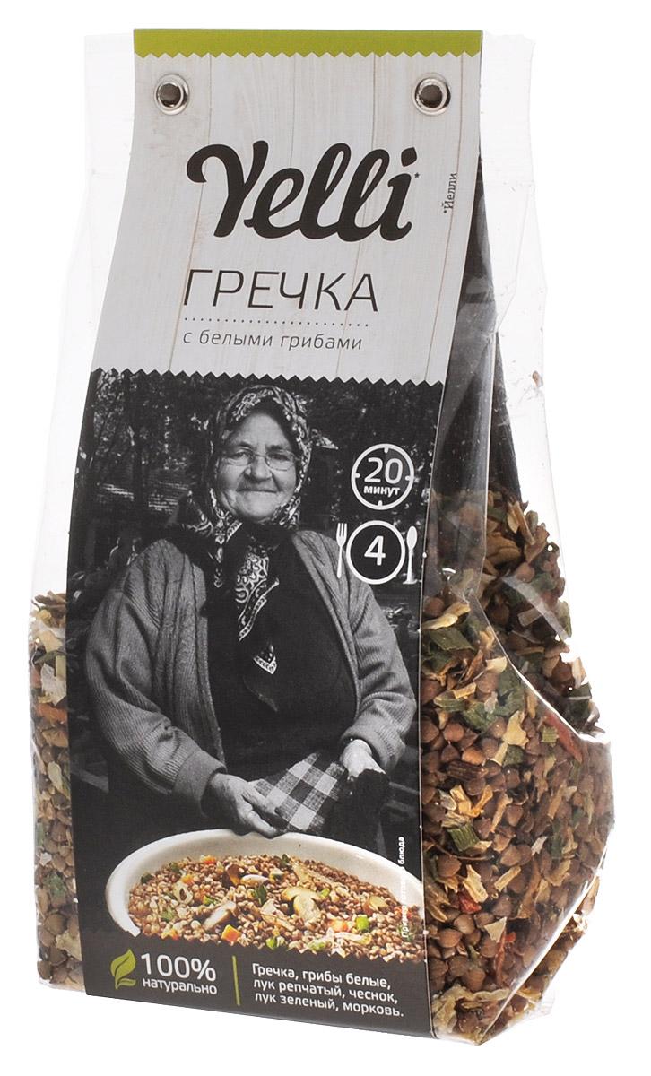 Yelli гречка с белыми грибами, 250 г0120710Гречка с белыми грибами Yelli - это настоящий рецепт русского национального блюда. На Руси гречу заправляли луком, белыми грибами, маслом и рублеными вареными яйцами. Испробовав все возможные варианты, повар признался, что проверенный временем рецепт ему не превзойти. Греча с белыми грибами – это самостоятельное блюдо, не требующее добавления мяса и овощей.