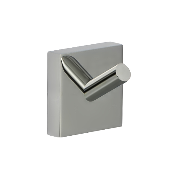 Крючок настенный Iddis Edifice, цвет: хром531-401Двойной крючок Iddis Edifice предназначен для подвешивания полотенец, халата и многого другого в ванной комнате. Он выполнен из латуни. Хромированное покрытие придает изделию яркий металлический блеск и эстетичный внешний вид. Крепление входит в комплект.