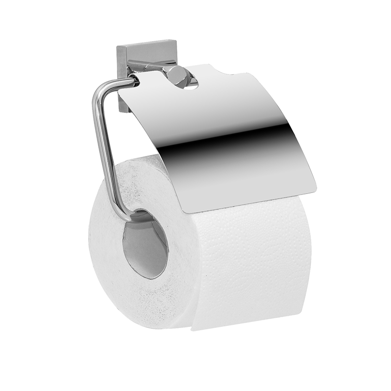 Держатель для туалетной бумаги Iddis Edifice, с крышкой, цвет: хромBL505Держатель Iddis Edifice выполнен из высококачественной латуни. Изделие предназначено для удерживания туалетной бумаги. Оно крепится к стене с помощью шурупов. Держатель имеет оригинальный дизайн.