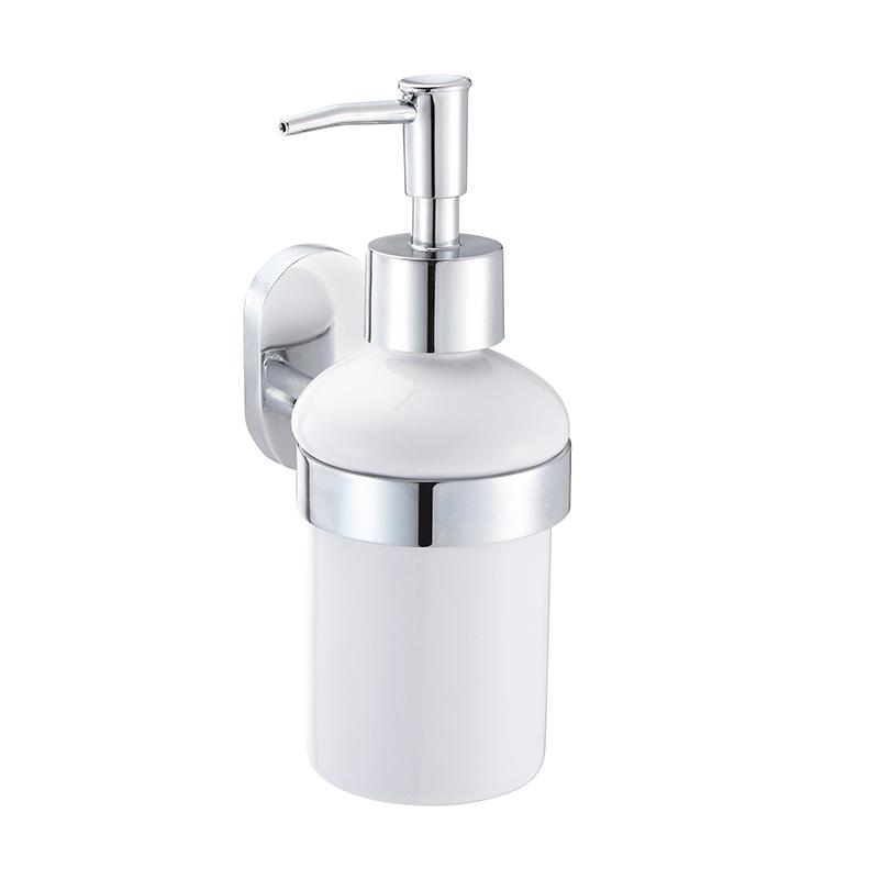 Дозатор для жидкого мыла Iddis Mirro Plus68/5/3Дозатор для жидкого мыла Iddis Mirro Plus, изготовленный из керамики и латуни, отлично подойдет для вашей ванной комнаты. Такой аксессуар очень удобен в использовании, достаточно лишь перелить жидкое мыло в дозатор, а когда необходимо использование мыла, легким нажатием выдавить нужное количество.