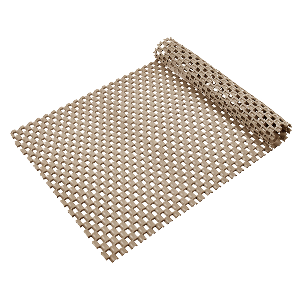Коврик-дорожка Vortex Шашки, противоскользящий, цвет: бежевый, 0,9 х 10 м531-105Коврик-дорожка из ПВХ повышенной твердости и износоустойчивости препятствует скольжению, эффективно защищает помещение от влаги и грязи. Легко укладывается на поверхность любой формы и площади. Легко чистится и моется. Подходит для использования в быту и в помещениях с высокой проходимостью.