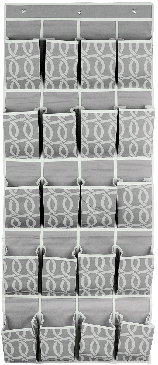 Кофр для хранения Плетение, 20 карманов, 56 х 136 смRG-D31SКофр для хранения Плетение изготовлен из плотного полиэстера, декорированного оригинальным переплетающимся узором. Кофр имеет 20 объемных карманов для хранения различных бытовых вещей. Верхняя часть изделия снабжена вставкой из картона для прочности конструкции. Изделие подвешивается на перекладину или планку с помощью 3 металлических крючков (входят в комплект). Стильный принт, модный цвет и качество исполнения сделают такой кофр незаменимым для хранения ваших вещей.