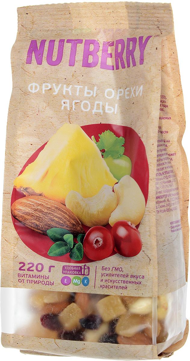 Nutberryсмесьорехов,фруктов иягод,220г4620000671510Сочная клюква, сладкий миндаль, питательный кешью, экзотический ананас, бодрящий золотистый изюм входящие в состав этой смеси – все это идеальное сочетание вкуса и пользы! Смесь, будто созданная самой природой, не оставит равнодушным даже самого взыскательного потребителя.