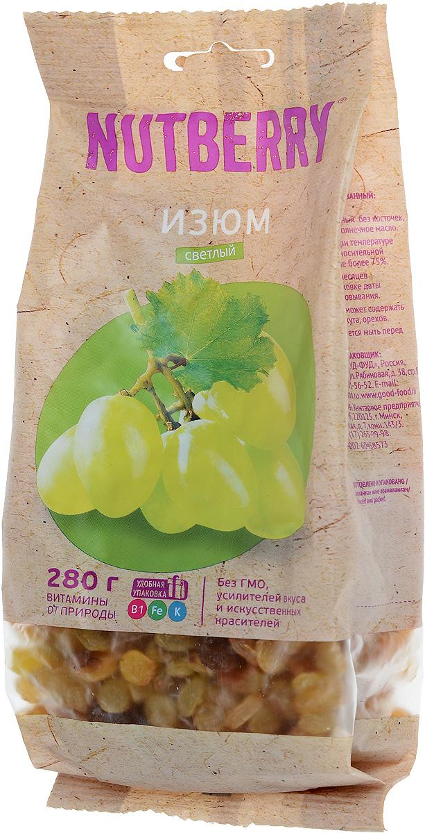 Nutberryизюмсветлый,280г0120710Изюм - вкусный и питательный продукт, обладает многими полезными свойствами. Светлый изюм отличается крупным калибром, нежной консистенцией и мягким вкусом.