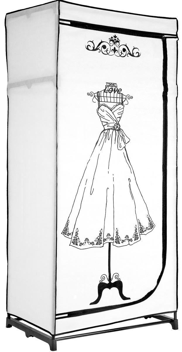Мобильный шкаф для хранения, 75 х 50 х 160 см12723Мобильный шкаф предназначен для хранения одежды и аксессуаров, он компактный, легкий, быстро собирается, имеет консервативную расцветку. Шкаф представляет собой сборный металлический каркас, на который натянут чехол из нетканого полотна. Закрывается шкаф на молнию. Небольшие пластиковые ножки устойчивы на любой поверхности, будь то паркет, линолеум или ковровое покрытие. Вместительный и компактный шкаф станет незаменимым дома или на даче, а классическая расцветка позволит ему вписаться в любой интерьер. С таким шкафом ваши вещи всегда будут в порядке.