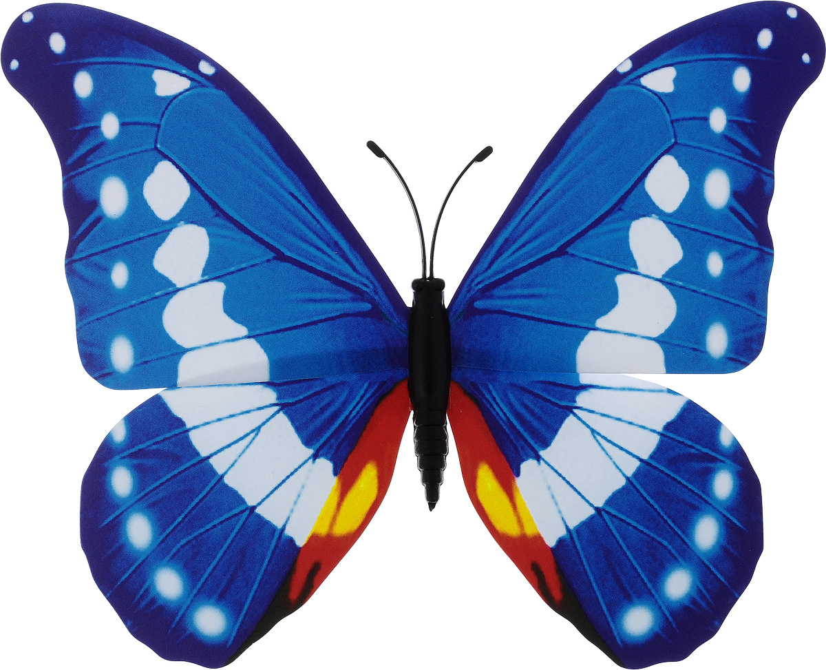 Фигура садовая Village people Тропическая бабочка, с магнитом, цвет: голубой, белый, 11,5 х 9 смПУ-1_черный/серебристыйВетряная фигурка Village People Тропическая бабочка, изготовленная из ПВХ, это не только красивое украшение, но и замечательный способ отпугнуть птиц с грядок. При дуновении ветра бабочка начинает порхать крыльями. Изделие оснащено магнитом, с помощью которого вы сможете поместить его в любом удобном для вас месте. Яркий дизайн фигурки оживит ландшафт сада.
