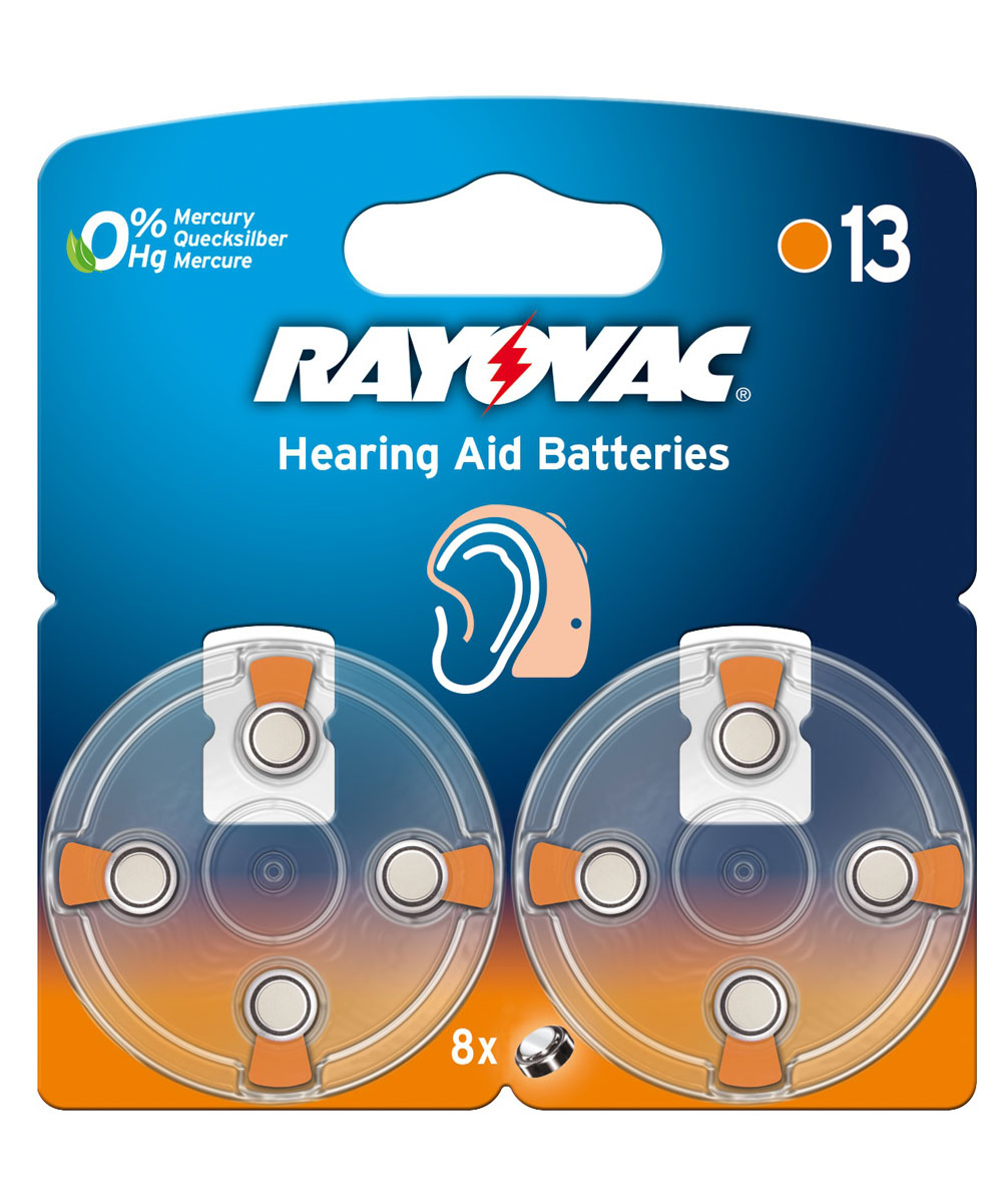 Батарейка для слуховых аппаратов Varta Rayovac Acoustic, тип 13, 1,45В, 8 шт38843Батарейки Varta Rayovac Acoustic обеспечат идеальную работу слуховых аппаратов. Длительное время работы при высоких уровнях напряжения - преимущество этой специальной линейки. Не содержат ртути. Диаметр/Высота: 7,8/5,4 (мм). Электрохимическая схема: оксид цинка (ZN/O2). Мощность 310 mAh. Форм-фактор: PR48.Вес: 0,8 г.