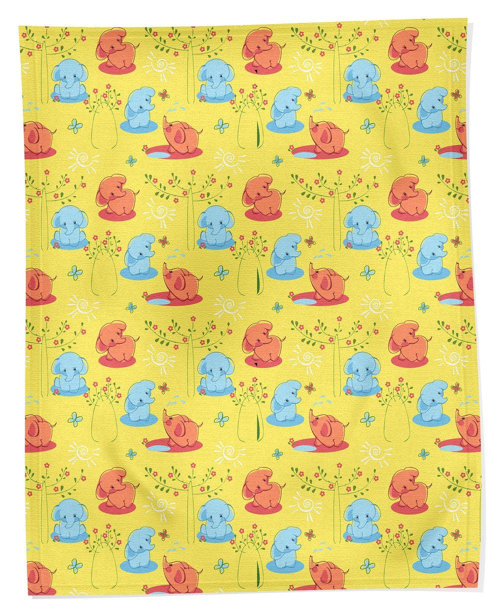 Bonne Fee Плед детский Слоны 100 см х 70 см, цвет: желтый96281375Теплый и легкий плед Bonne Fee Слоны согреет малыша в прохладную погоду в кроватке или коляске. Изделие позволяет коже дышать и не вызывает раздражения. Легкий плед Слоны - замечательный аксессуар, который подарит Вашему малышу тепло и уют.
