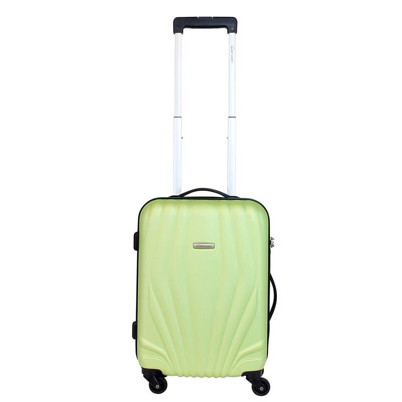 Чемодан-тележка Cavalet Orlando, 35 л, цвет: зеленый. 844-50-43ГризлиЧемодан-тележка Cavalet на четырех колесах идеально подходит для поездок и путешествий. Корпус имеет жесткую конструкцию и выполнен из ударопрочного пластика. Чемодан имеет вместительное отделение для хранения одежды и карманы для аксессуаров. Отделение закрывается на застежку-молнию и замок. Внутри сетчатый карман на молнии и багажные ремни для фиксации. Внутренняя поверхность изделия отделана полиэстером.В верхней части чемодана предусмотрена ручка для переноски. На одной из боковых сторон - бесшумные пластиковые ножки, на другой - дополнительная ручка для переноски.Чемодан оснащен удобной телескопической ручкой. Стильный и удобный чемодан-тележка Cavalet вместит все необходимые вещи и станет незаменимым аксессуаром во время поездок.