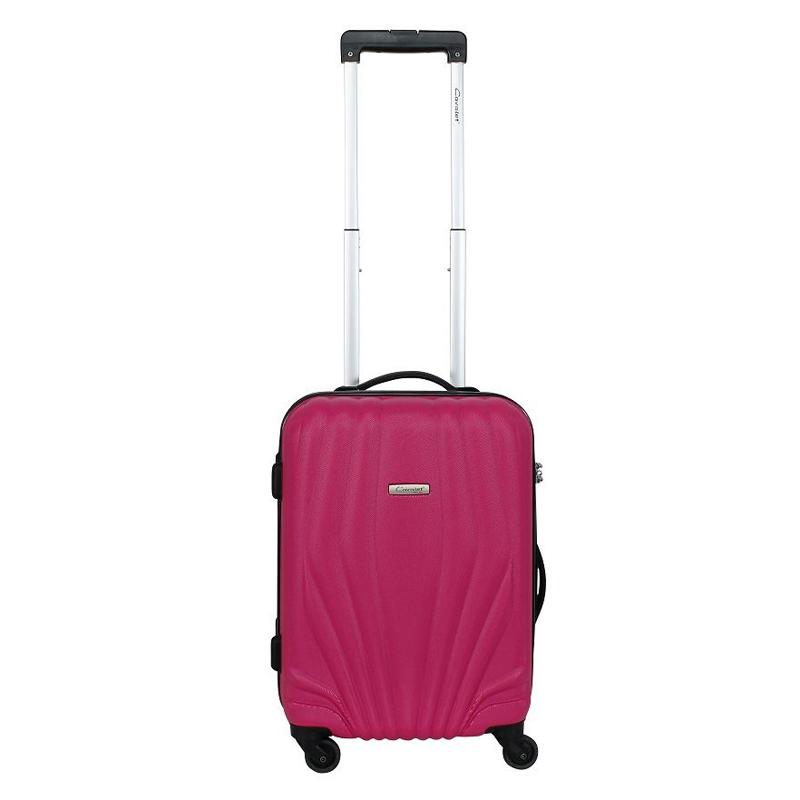 Чемодан-тележка Cavalet Orlando, 35 л, цвет: розовый. 844-50-82844-50-82Чемодан-тележка Cavalet на четырех колесах идеально подходит для поездок и путешествий. Корпус имеет жесткую конструкцию и выполнен из ударопрочного пластика. Чемодан имеет вместительное отделение для хранения одежды и карманы для аксессуаров. Отделение закрывается на застежку-молнию и замок. Внутри сетчатый карман на молнии и багажные ремни для фиксации. Внутренняя поверхность изделия отделана полиэстером.В верхней части чемодана предусмотрена ручка для переноски. На одной из боковых сторон - бесшумные пластиковые ножки, на другой - дополнительная ручка для переноски.Чемодан оснащен удобной телескопической ручкой. Стильный и удобный чемодан-тележка Cavalet вместит все необходимые вещи и станет незаменимым аксессуаром во время поездок.
