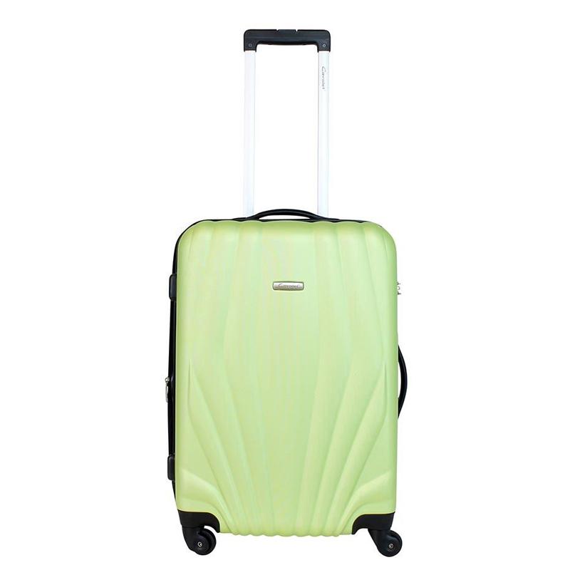 Чемодан-тележка Cavalet Orlando, 78 л, цвет: зеленый. 844-60-43844-60-43Чемодан-тележка Cavalet на четырех колесах идеально подходит для поездок и путешествий. Корпус имеет жесткую конструкцию и выполнен из ударопрочного пластика с возможностью увеличения объема на 5 см. Чемодан имеет вместительное отделение для хранения одежды и карманы для аксессуаров. Отделение закрывается на застежку-молнию и замок. Внутри сетчатый карман на молнии и багажные ремни для фиксации. Внутренняя поверхность изделия отделана полиэстером.В верхней части чемодана предусмотрена ручка для переноски. На одной из боковых сторон - бесшумные пластиковые ножки, на другой - дополнительная ручка для переноски.Чемодан оснащен удобной телескопической ручкой. Стильный и удобный чемодан-тележка Cavalet вместит все необходимые вещи и станет незаменимым аксессуаром во время поездок.