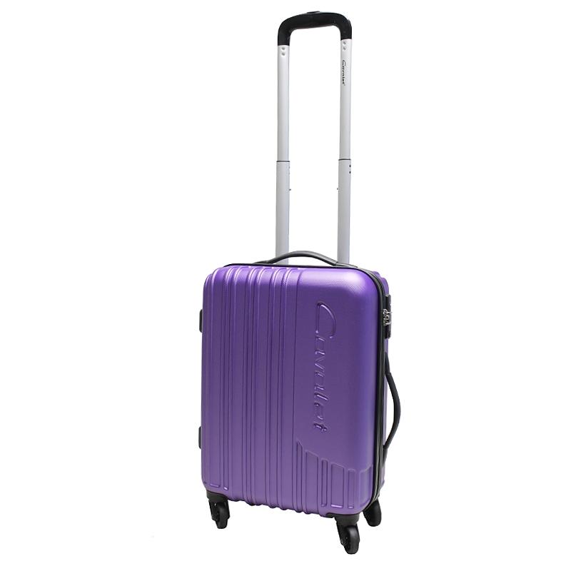 Чемодан-тележка Cavalet Malibu Luggage, 32 л, цвет: фиолетовый. 858-50-59858-50-59Чемодан-тележка Cavalet на четырех колесах идеально подходит для поездок и путешествий. Корпус имеет жесткую конструкцию и выполнен из ударопрочного пластика. Чемодан имеет вместительное отделение для хранения одежды и карманы для аксессуаров. Отделение закрывается на застежку-молнию и замок. Внутри сетчатый карман на молнии и багажные ремни для фиксации. Внутренняя поверхность изделия отделана полиэстером.В верхней части чемодана предусмотрена ручка для переноски. На одной из боковых сторон - пластиковые ножки, на другой - дополнительная ручка для переноски.Чемодан оснащен удобной телескопической ручкой. Стильный и удобный чемодан-тележка Cavalet вместит все необходимые вещи и станет незаменимым аксессуаром во время поездок.