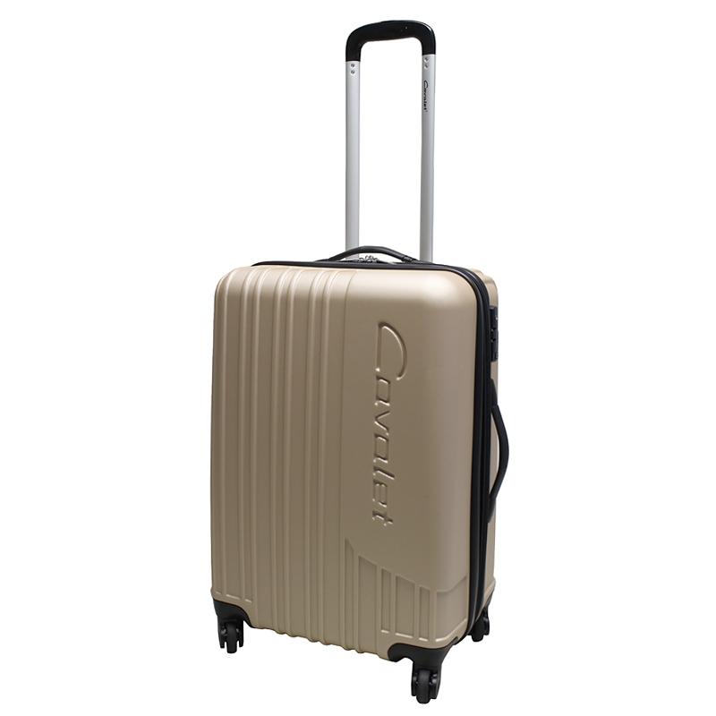 Чемодан-тележка Cavalet Malibu Luggage, 75+14 л, цвет: бронза. 858-60-26Р1053(28)Чемодан-тележка Cavalet на четырех колесах идеально подходит для поездок и путешествий. Корпус имеет жесткую конструкцию и выполнен из ударопрочного пластика с возможностью увеличения объема. Чемодан имеет вместительное отделение для хранения одежды и карманы для аксессуаров. Отделение закрывается на застежку-молнию и замок. Внутри сетчатый карман на молнии и багажные ремни для фиксации. Внутренняя поверхность изделия отделана полиэстером.В верхней части чемодана предусмотрена ручка для переноски. На одной из боковых сторон - пластиковые ножки, на другой - дополнительная ручка для переноски.Чемодан оснащен удобной телескопической ручкой. Стильный и удобный чемодан-тележка Cavalet вместит все необходимые вещи и станет незаменимым аксессуаром во время поездок.