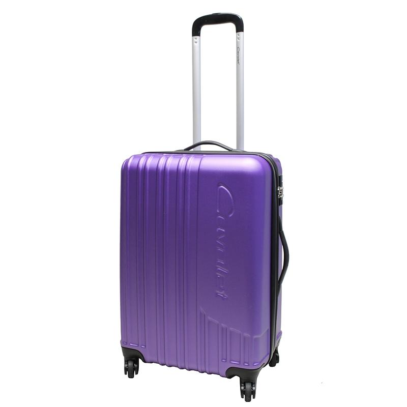 Чемодан-тележка Cavalet Malibu Luggage, 75+14 л, цвет: фиолетовый. 858-60-59ГризлиЧемодан-тележка Cavalet на четырех колесах идеально подходит для поездок и путешествий. Корпус имеет жесткую конструкцию и выполнен из ударопрочного пластика с возможностью увеличения объема. Чемодан имеет вместительное отделение для хранения одежды и карманы для аксессуаров. Отделение закрывается на застежку-молнию и замок. Внутри сетчатый карман на молнии и багажные ремни для фиксации. Внутренняя поверхность изделия отделана полиэстером.В верхней части чемодана предусмотрена ручка для переноски. На одной из боковых сторон - пластиковые ножки, на другой - дополнительная ручка для переноски.Чемодан оснащен удобной телескопической ручкой. Стильный и удобный чемодан-тележка Cavalet вместит все необходимые вещи и станет незаменимым аксессуаром во время поездок.