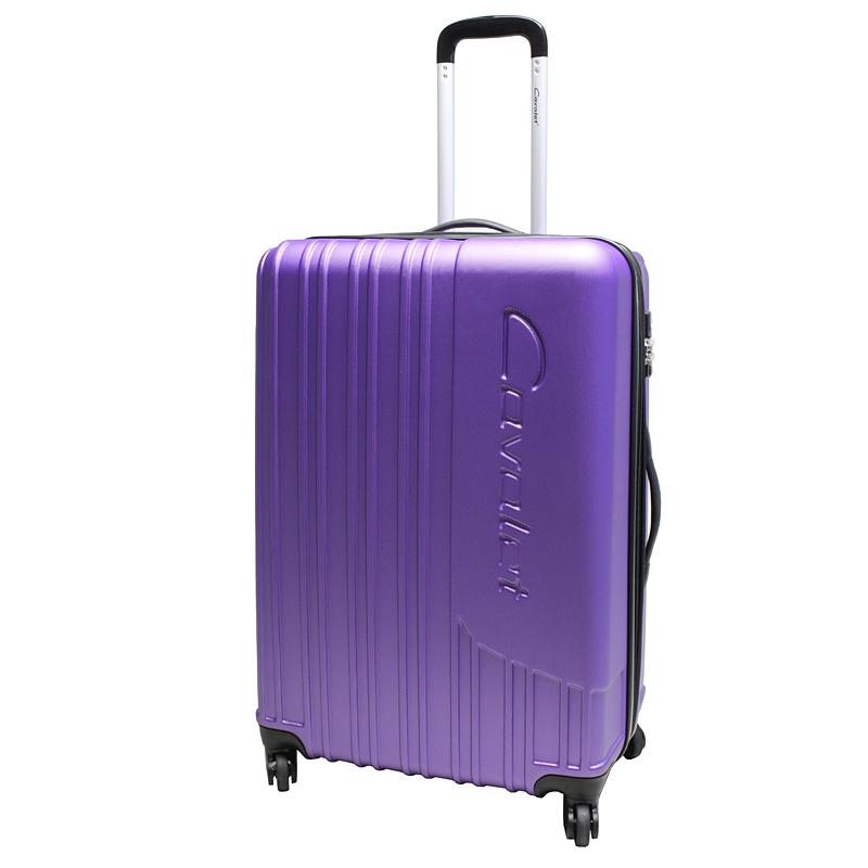 Чемодан-тележка Cavalet Malibu Luggage, 103+20 л, цвет: фиолетовый. 858-70-59Trevira ThermoЧемодан-тележка Cavalet на четырех колесах идеально подходит для поездок и путешествий. Корпус имеет жесткую конструкцию и выполнен из ударопрочного пластика. Чемодан имеет одно вместительное отделение для хранения одежды и аксессуаров, с возможностью увеличения объема. Отделение закрывается на застежку-молнию и замок. Внутри сетчатый карман на молнии и багажные ремни для фиксации. Внутренняя поверхность изделия отделана полиэстером.В верхней части чемодана предусмотрена ручка для переноски. На одной из боковых сторон - пластиковые ножки, на другой - дополнительная ручка для переноски.Чемодан оснащен удобной телескопической ручкой. Стильный и удобный чемодан-тележка Cavalet вместит все необходимые вещи и станет незаменимым аксессуаром во время поездок.