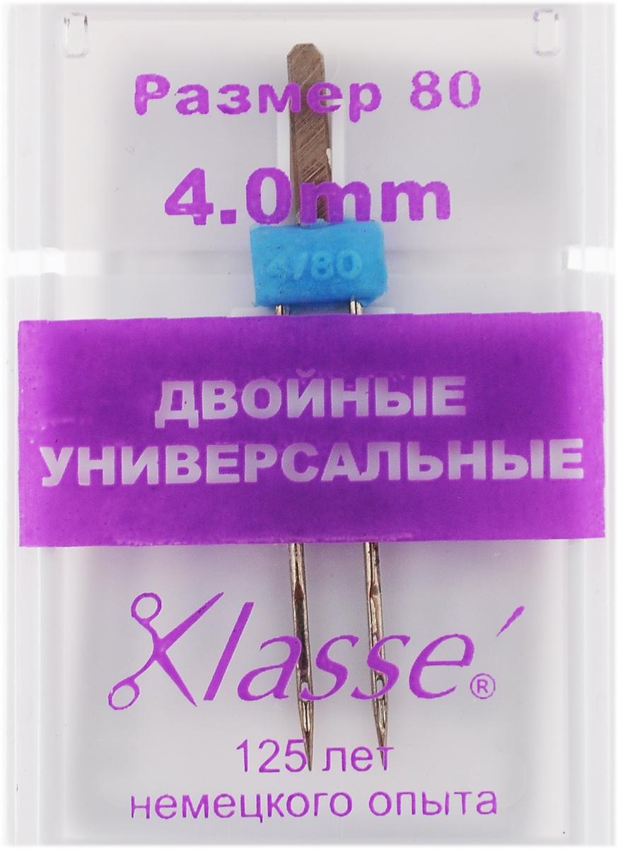 Игла для бытовых швейных машин Hemline, универсальная, двойная, №80, 4 мм. A6150/4.0TD 0350Двойная игла Hemline, выполненная из высококачественной стали, идеально подходит для декоративной отстрочки. Двойные игла закреплена в полиамидном блоке. Поэтому ее необходимо использовать при низкой скорости и в недолгие периоды времени.В комплекте пластиковый футляр для переноски и хранения. Номер иглы: 80.Расстояние между иглами: 4 мм.
